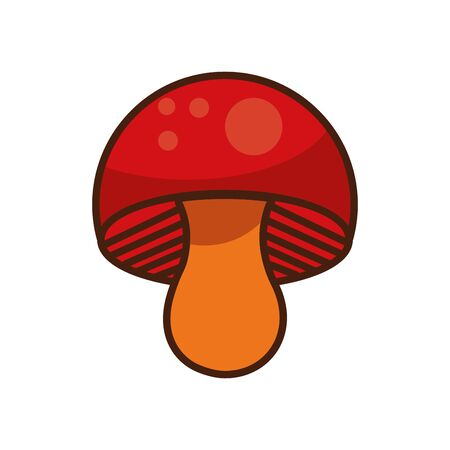 fungus autumn nature isolated icon vector illustration design