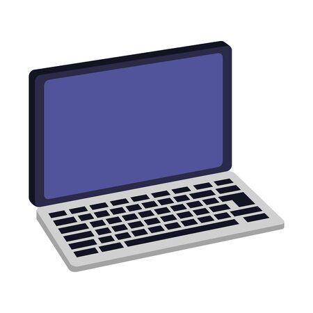 Laptop computer technology isometric symbol ,vector illustration graphic design.