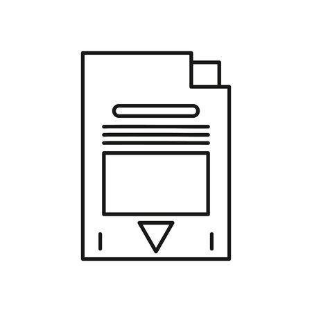 sd card store device icon vector illustration design
