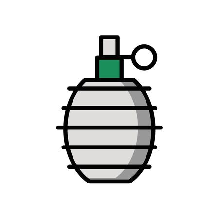 grenade military force isolated icon vector illustration design Illustration