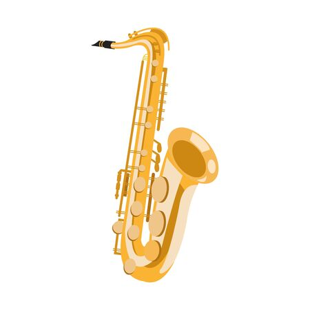 strumenti classici, icona del sassofono su sfondo bianco, illustrazione vettoriale