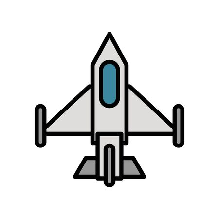 airplane military force isolated icon vector illustration design 일러스트