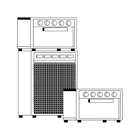 sound amplifiers icon over white background, vector illustration Ilustração