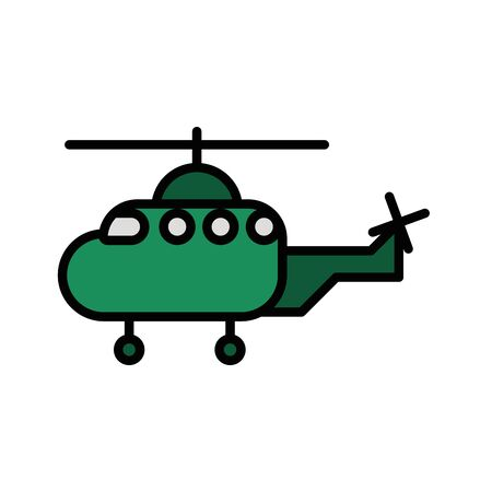 helicopter military force isolated icon vector illustration design