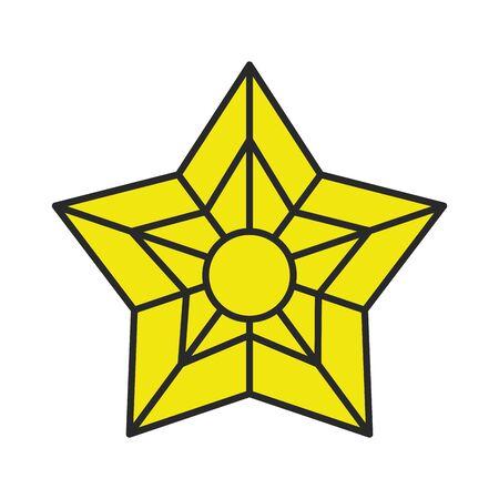 merry christmas decorative star icon vector illustration design Illusztráció