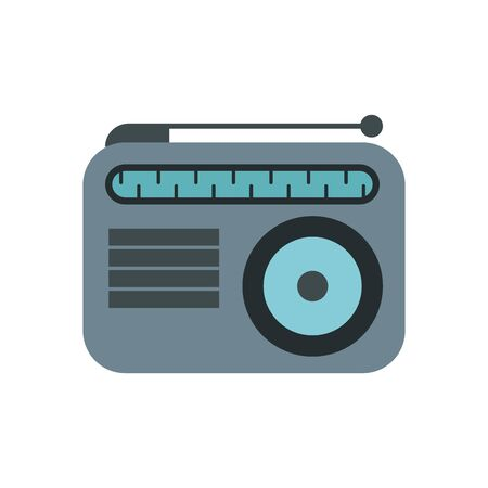 radio music player isolated icon vector illustration design Ilustração