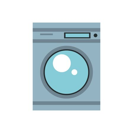 washing machine home appliance isolated icon vector illustration design