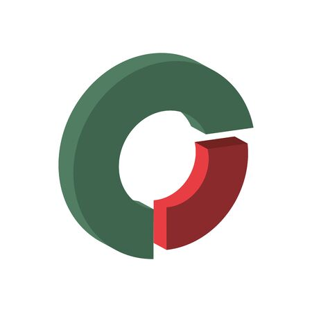 financial statistics pie graphic isolated icon vector illustration design