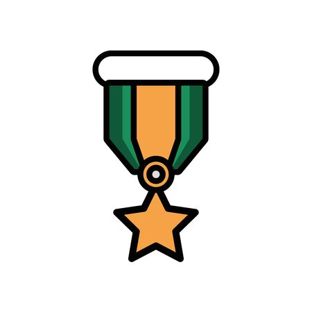 military force medal isolated icon vector illustration design 일러스트