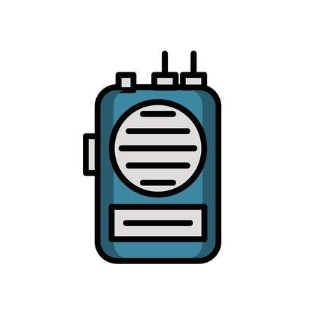 communicator radio military force isolated icon vector illustration design