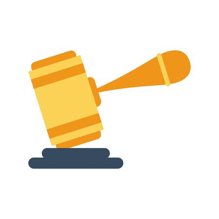 justice hammer device isolated icon vector illustration design