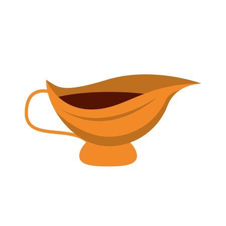 vinaigrette utensil pot isolated icon vector illustration design