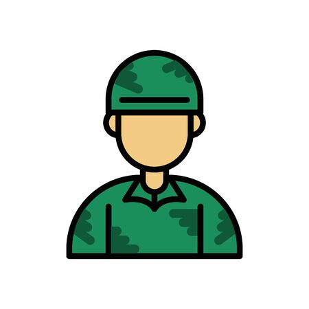 soldier military force isolated icon vector illustration design