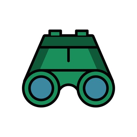 binoculars military force isolated icon vector illustration design 일러스트