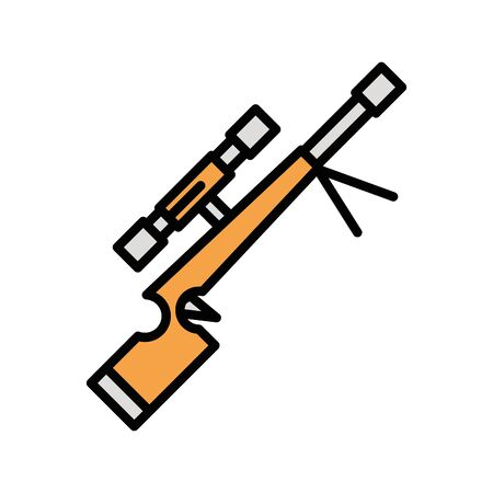 gun military force isolated icon vector illustration design 일러스트