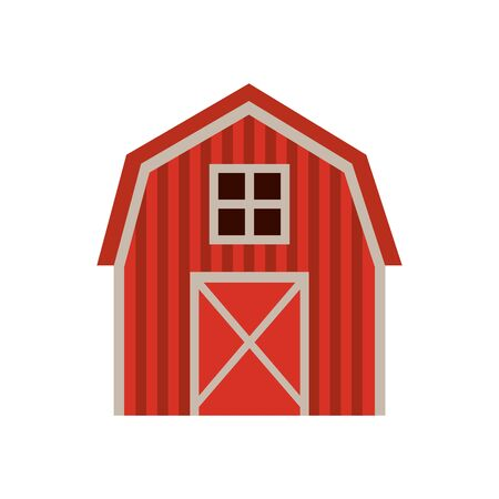 farm stable building isolated icon vector illustration design