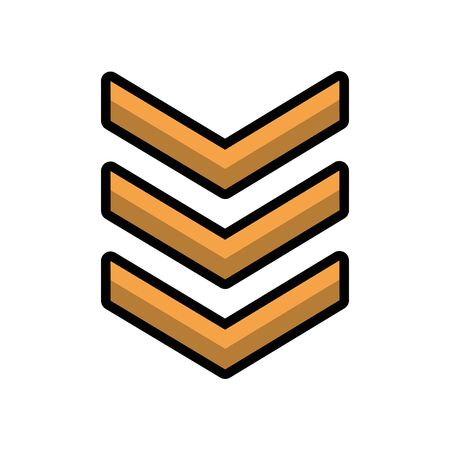 military force medal isolated icon vector illustration design Illusztráció