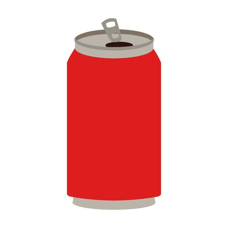 soda can icon over white background, vector illustration