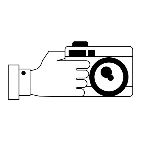 photographic camera icon cartoon vector illustration graphic design