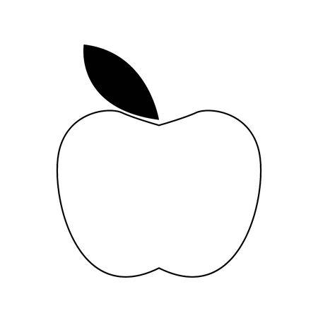 apple fruit icon over white background, flat design, vector illustration Ilustracja