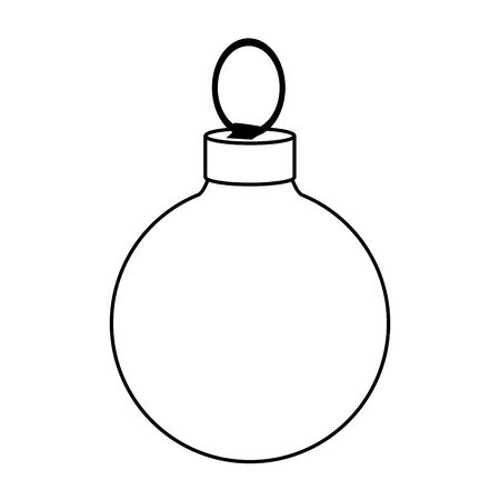 christmas ball icon over white background, vector illustration