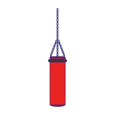 boxing bag icon over white background, vector illustration