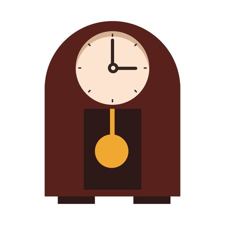 decorative vintage clock icon over white background, vector illustration Illusztráció