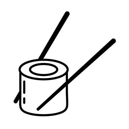 delicious sushi healthy food icon vector illustration design