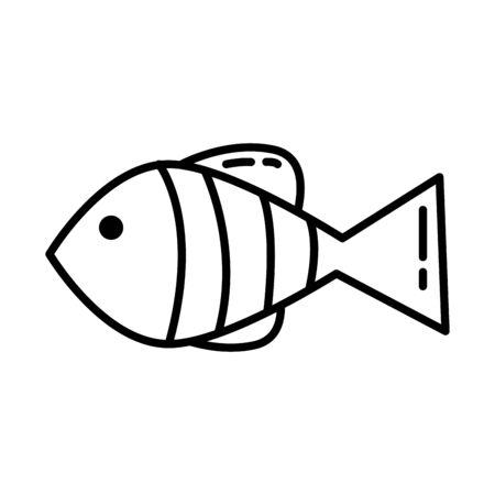 delicious fish healthy food icon vector illustration design