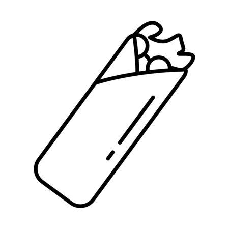 delicious mexican burrito healthy food icon vector illustration design Ilustracja