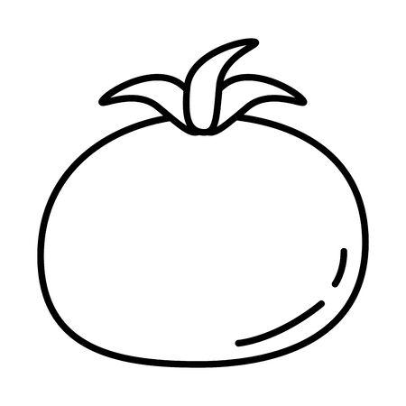 fresh tomato vegetable healthy food icon vector illustration design Ilustracja