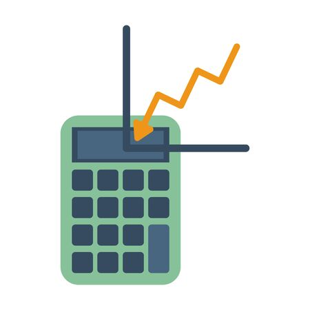 financial statistics graphic with calculator math vector illustration design Ilustrace
