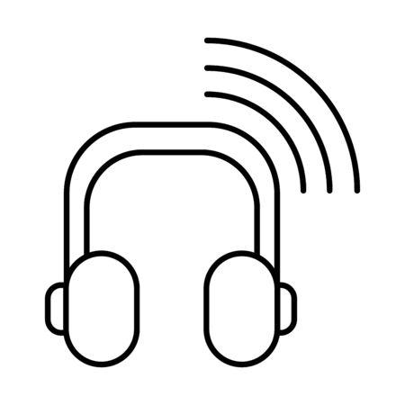 earphones audio device isolated icon vector illustration design Illustration