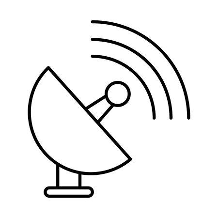 satelite antena communication isolated icon vector illustration design
