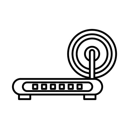 router wifi device isolated icon vector illustration design