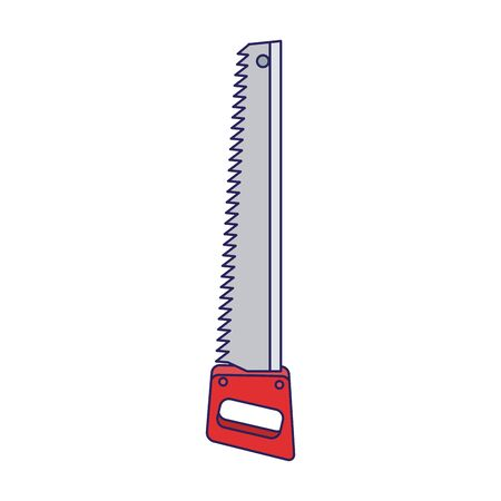 handsaw tool icon over white background, vector illustration