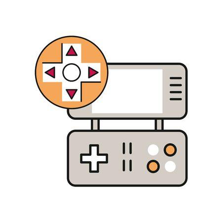video game portable device icon vector illustration design Ilustração Vetorial