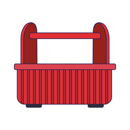 tools box icon over white background, vector illustration