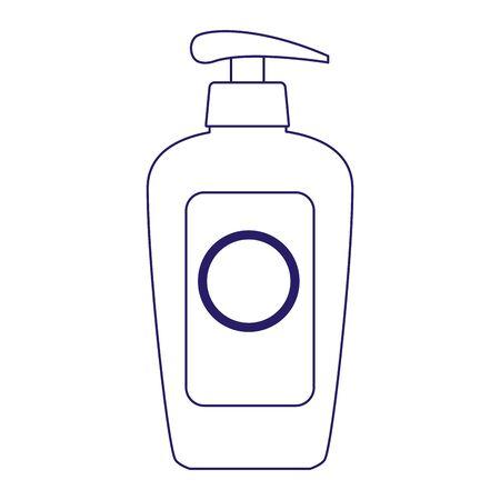 sunblock cream bottle icon over white background, flat design, vector illustration