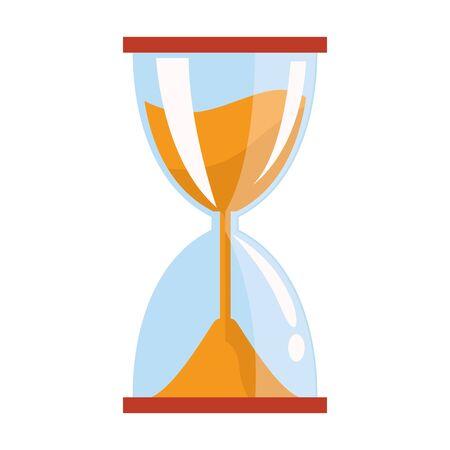 hourglass icon over white background, colorful design, vector illustration Ilustracja