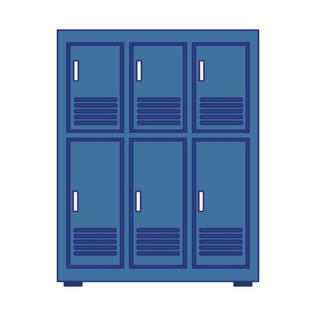 lockers row icon over white background, vector illustration