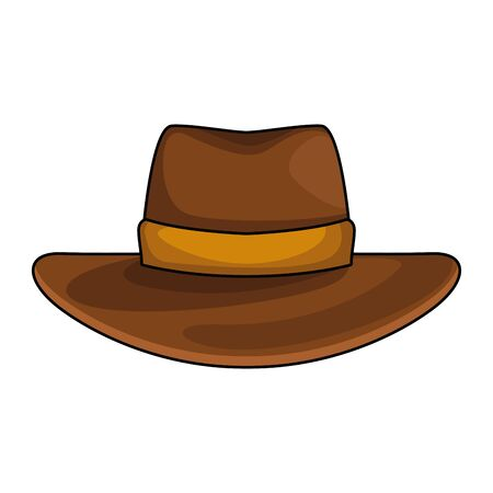 Western hat icon over white background, colorful design, vector illustration