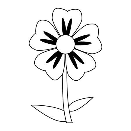 Beautiful flower cartoon isolated Design Standard-Bild - 138868286