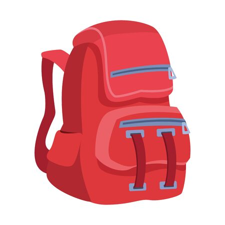 backpack icon over white background, vector illustration