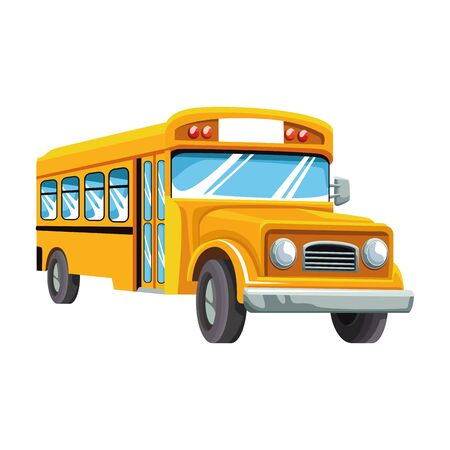 school bus icon over white background, colorful design , vector illustration
