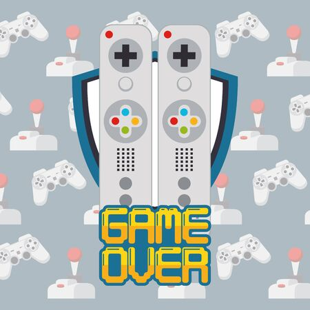 video game pixelated controls icons vector illustration design Vectores