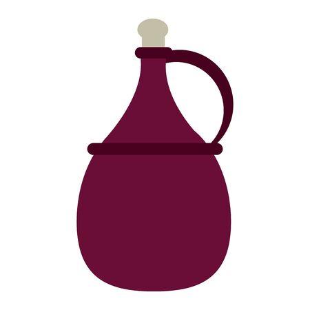 jug of wine icon over white background, vector illustration Векторная Иллюстрация