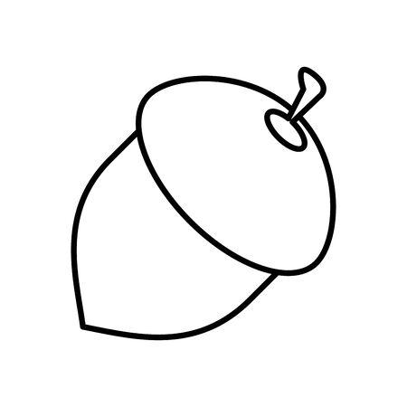 seed acorn autumn nature icon vector illustration design