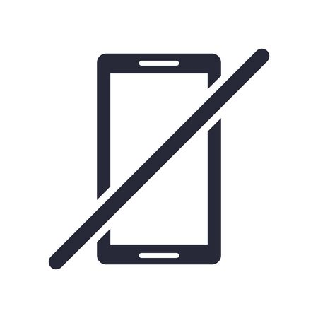 smartphone device with denied symbol vector illustration design  イラスト・ベクター素材