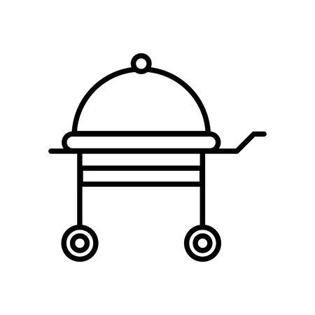 grill oven appliance isolated icon vector illustration design Stock Illustratie